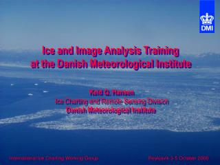 International Ice Charting Working Group 		     Reykjavik 3-5 October 2000