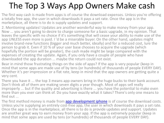 2The Top 3 Ways App Owners Make cash