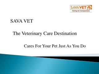 SAVA Vet The Veterinary Care Destination