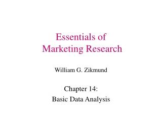 Essentials of Marketing Research William G. Zikmund