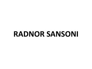 Radnor Sansoni