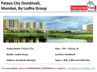 Palava City Dombivali, One of the Biggest Pre Launch, Mumbai