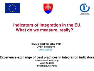 Indicators of integration in the EU. What do we measure, really?