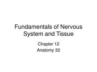 Fundamentals of Nervous System and Tissue