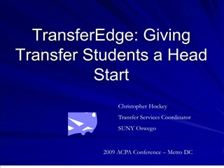 transferedge: giving transfer students a head start