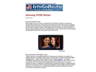 Samsung ST100 Review
