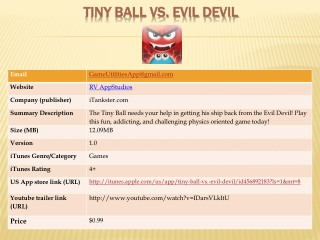 tiny ball vs. evil devil