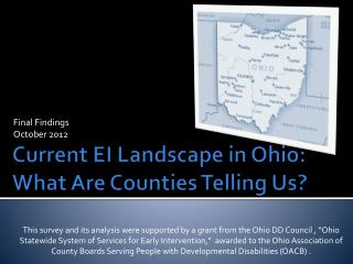 Current EI Landscape in Ohio: What Are Counties Telling Us?