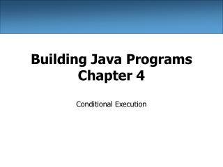 Building Java Programs Chapter 4