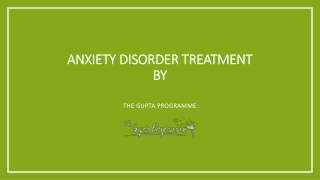 anxiety disorder treatment