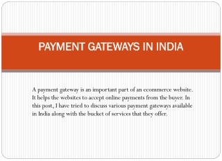 Payment Gateway Integration