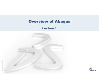 Overview of Abaqus