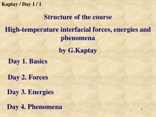 Day 1. Basics