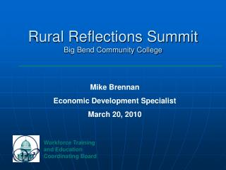 Rural Reflections Summit Big Bend Community College