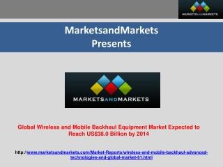 Global Wireless and Mobile Backhaul Equipment Market (2009–2