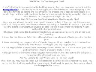 renegade diet pdf