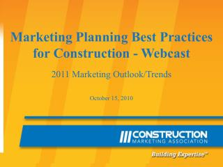 Marketing Planning Best Practices for Construction - Webcast