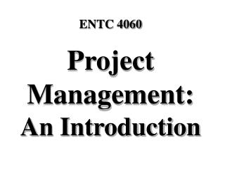 Project Management: An Introduction