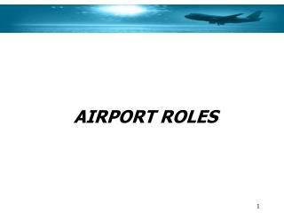 AIRPORT ROLES