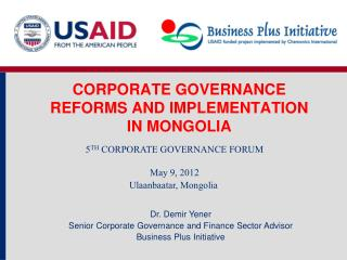 CORPORATE GOVERNANCE   REFORMS AND IMPLEMENTATION IN MONGOLIA