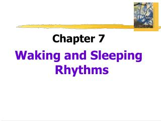 Chapter 7 Waking and Sleeping Rhythms