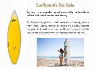 Used Surfboards For Sale
