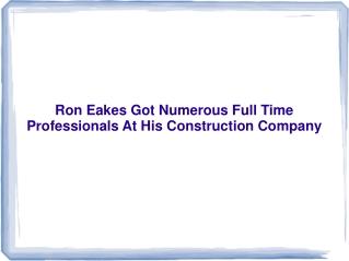 Ron Eakes