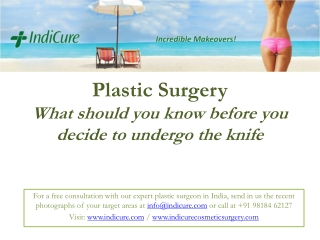 Plastic Surgery in India