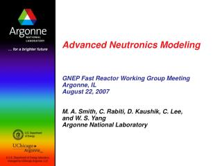 Advanced Neutronics Modeling