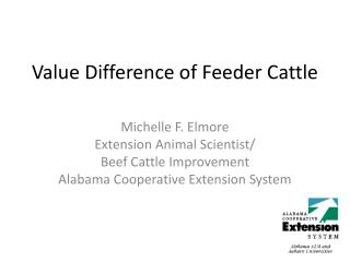 Value Difference of Feeder Cattle