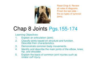Chap 8 Joints  Pgs.155-174