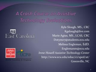 A Crash Course on Assistive Technology Evaluations