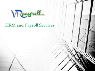 Payroll Management, Statutory Compliance solution - VRpayrol