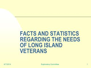 FACTS AND STATISTICS REGARDING THE NEEDS OF LONG ISLAND VETERANS