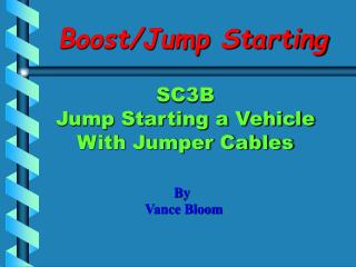 Boost/Jump Starting