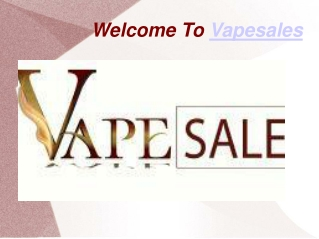 PPT of Vapesales And Products