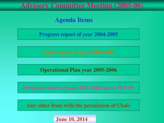 Advisory Committee Meeting (2005-06)