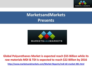 Global Polyurethanes Market is expected reach $55 Billion wh