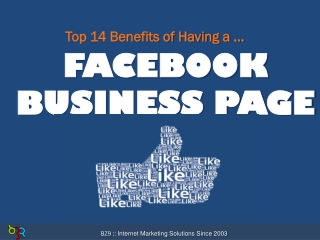 Top 14 Benefits of Having a Facebook Business Page