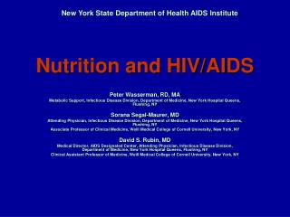 Nutrition and HIV/AIDS