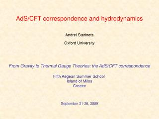 AdS/CFT correspondence and hydrodynamics