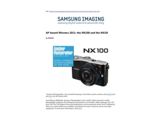ap award winners 2011 - the nx100 and the nx10!