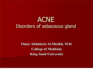 acne disorders of sebaceous gland