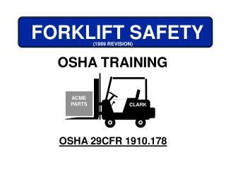 OSHA 29CFR 1910.178