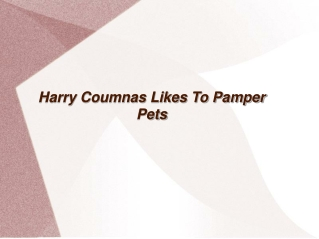 harry coumnas likes to pamper pets