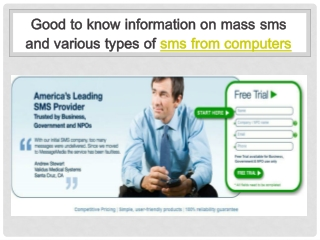 good to know information on mass sms