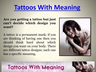 Tattoo Meanings