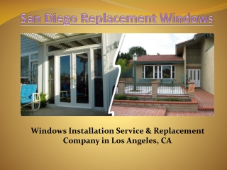 San Diego Vinyl Windows