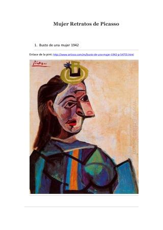 Mujer Retratos de Picasso -- Artisoo