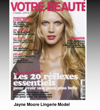 Jayne Moore Lingerie model